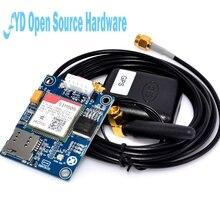 מיני סוג SIM808 במקום SIM908 מודול GSM GPRS GPS פיתוח לוח IPX SMA עם GPS אנטנה עבור פטל Pi