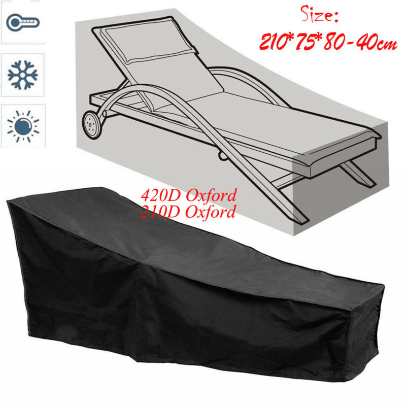 New Waterproof Outdoor Lounge Bed Stacking Chair Rain Cover Dust Proof Garden Parkland Patio Reclining Chair Furniture Protector