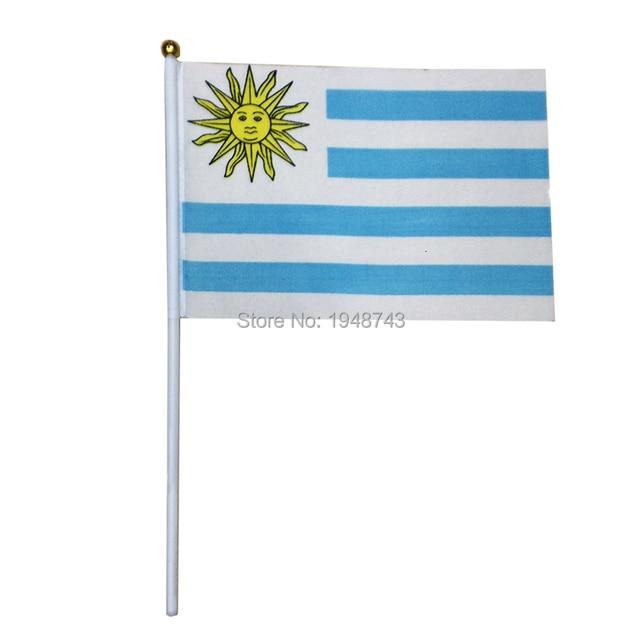 Pcs The Small Uruguay Flag CM Uruguay Flag The Hand - Uruguay flag