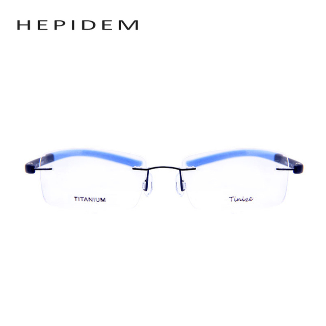 2017 New Fashion Square Myopia Rimless Glasses Memory Eyeglasses Optical Frame Ultra Light TR90 Titanium Eyewear Multicolor