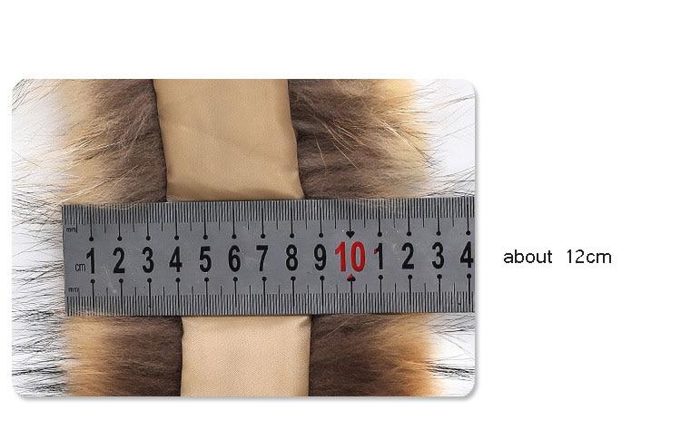 natural raccoon fur hoody trim collar (8)