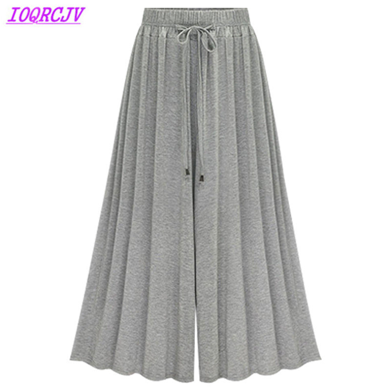 Wide     leg     pants   for women 2018 summer High waist   pants   Plus size M-6XL thin casual   pants   female Loose Elastic Waist IOQRCJV H359
