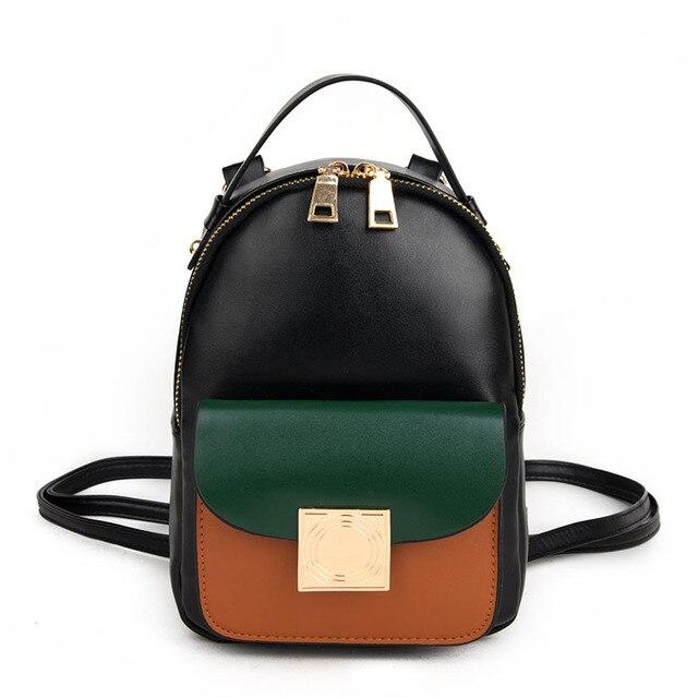 2017 Fashion new Female bag College wind High quality PU leather Women  Backpack Korean mini backpack 40d001a8e38fb