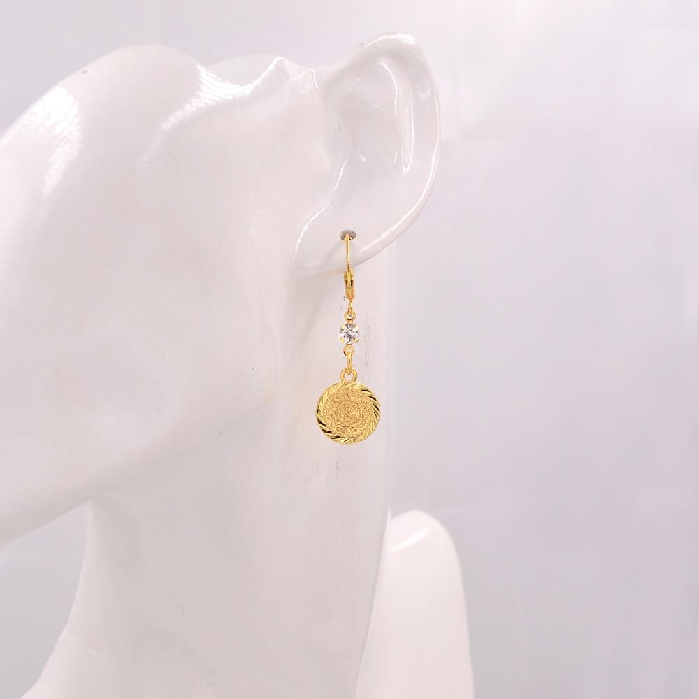 Image 3 - Arab Islamic Women Girls Gold color Ancient Coins Dangle Drop Earrings JewelryDrop Earrings