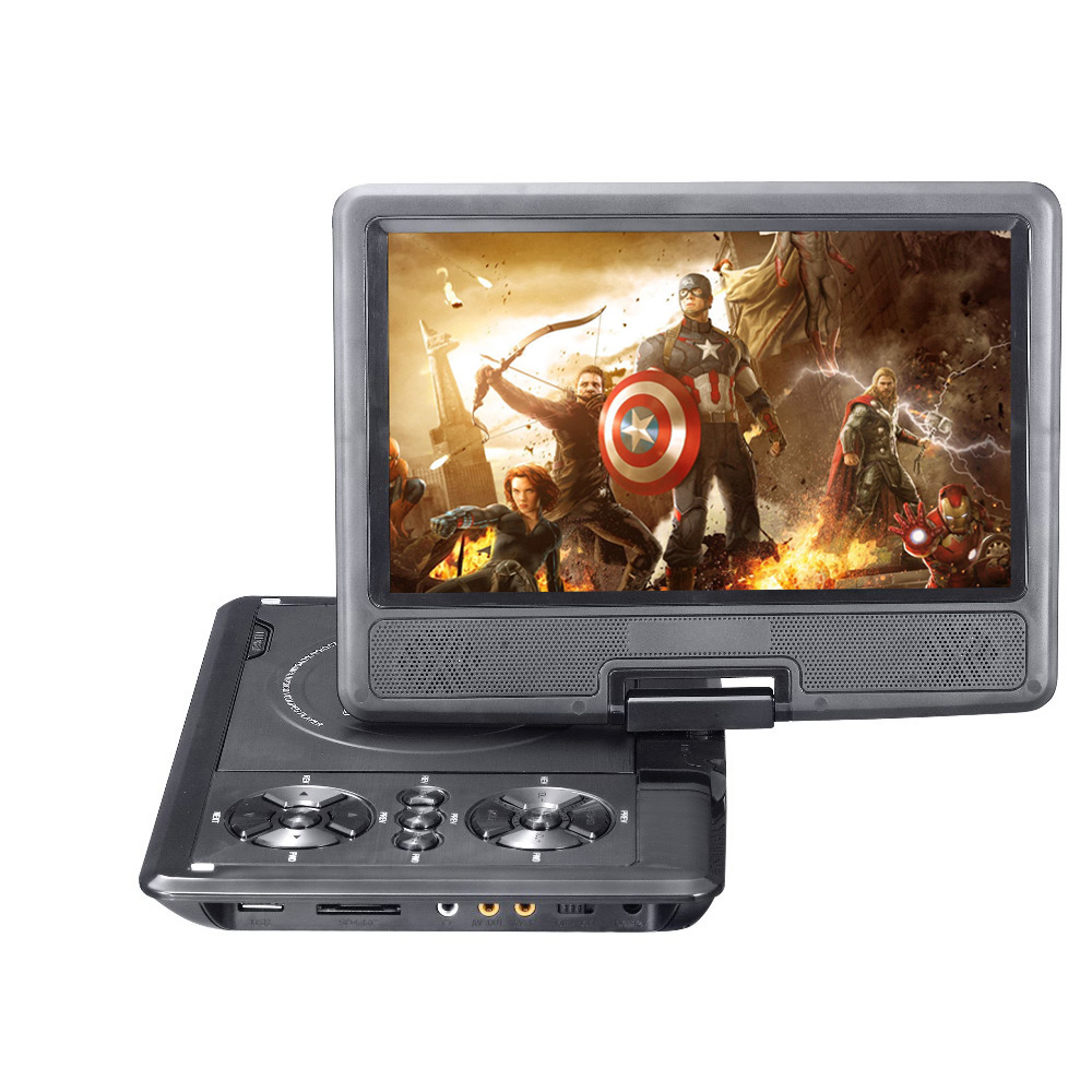 New 9 inch DVD Player TFT Screen Display Portable DVD EVD Player TV VCD CD MP...