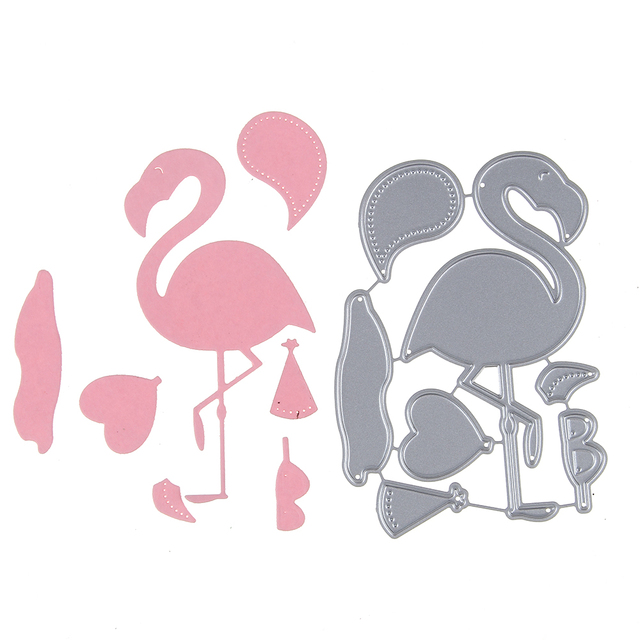 1 Set Cusomized Carbon Steel Flamingo Template Cutting Dies Stencil ...