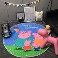 Encantador Dos Desenhos Animados Animais Porco Multi-função Do Jogo Do Bebê Tapetes Antiderrapantes Tapete Engatinhando Tapete Cobertor Como Saco de Armazenamento De Brinquedos Infantis