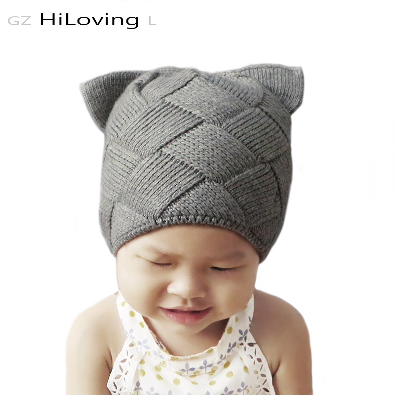 GZHiLOVINGL Cute Baby Girls Boys Niños Niños Cat Ears Gorro de lana - Accesorios para la ropa - foto 4