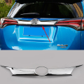 1pcs/set Car Styling Chrome Molding Molding Rear Fog Light Cover Lamp For Toyota RAV4 2016 Foglight Bumper Reflector Trim