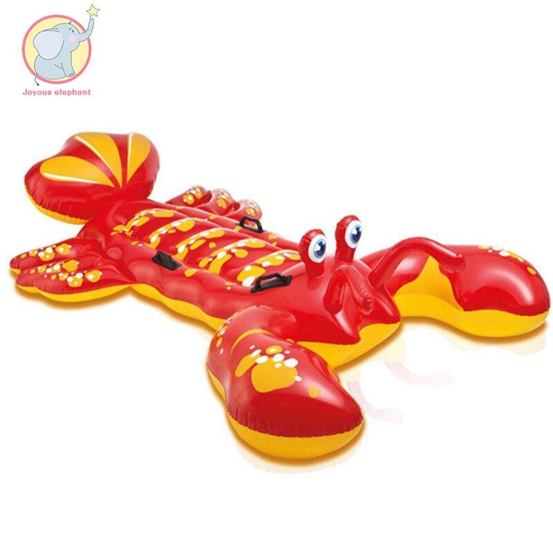Géant gonflable homard crabe flotteur piscine siège radeau natation cercle Air matelas eau jouets pour enfant adulte enfants plage fête