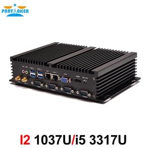 Image 4 - Quạt Không Cánh Mini PC Máy Tính Công Nghiệp Với USB 3.0 4 * COM HDMI Intel Celeron C1037U C1007U Core I5 3317U Windows 10 Linux