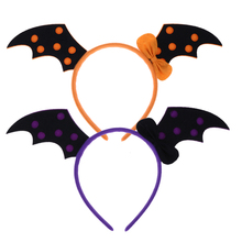 Halloween Costumes Devil Horns LED Flash Light Pumpkin Witch Skull Hair Hoops Headwear Head Band Party Supplies