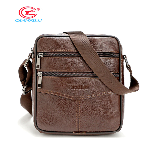 Aliexpress.com : Buy Genuine Leather Men Messenger Bags Cowskin ...