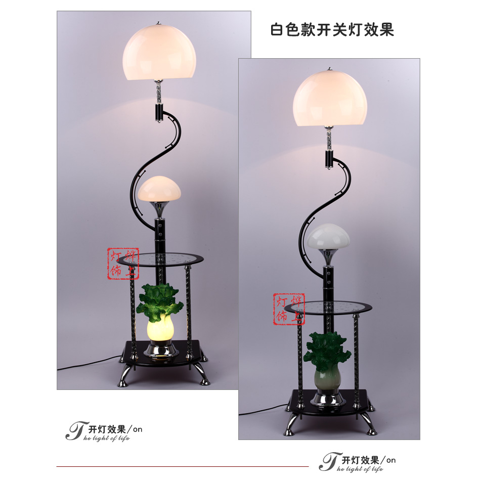 modern Chinese cabbage with tea table lamp decoration lamp several angle new financial prosperity FG557 new arrived 357g chinese pu erh puer tea health original puerh tea page 2