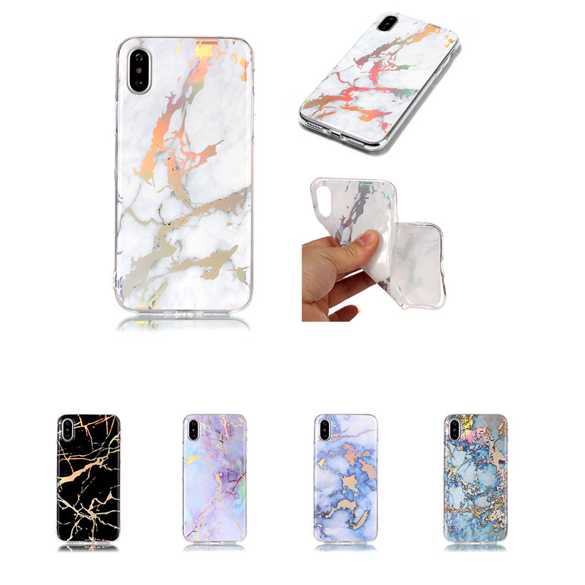 HEMASOLY Case For Samsung Galaxy J4 J6 Prime Case Silicone For J4 J6 Plus 2018 Case Plating Bling Marble Soft TPU Back Cover