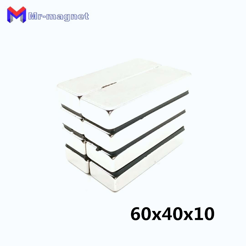 5pcs 60x40x10mm super strong neo neodymium magnet 60x40x10  ndfeb magnet 60 40 10mm  60mm x 40mm