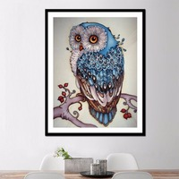 5D Diamond Embroidery Owl Claus Painting Cross Stitch DIY Craft Home Decor
