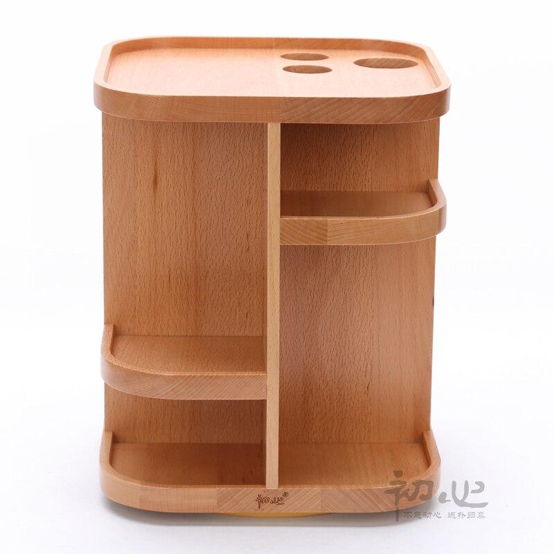 Creative Wooden Tabletop Makeup Organizer Storage Box Cosmetic Organizador  De Maquiagem For Lipstick Perfume Nail Polish Holders In Storage Boxes U0026  Bins ...