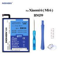 Bateria Nohon dla XiaoMi 6 BM39 Mi6/xiao mi 6 Bateria 3350mAh telefon o dużej pojemności rzeczywistej baterie polimerowe darmowe narzędzia pakiet
