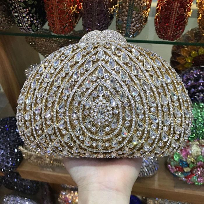 Ladies Clutch Evening Bags Womens Crystal purse Handbag Wedding Diamond Clutches Purse Rhinestones bag pink/red/black/gold цена