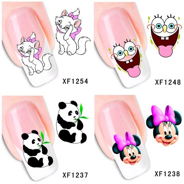 30 стилей! Модные ногти искусство Маникюр наклейки цветочный дизайн переводные наклейки для ногтей Советы красоты # BXF1229 ~ BXF1258
