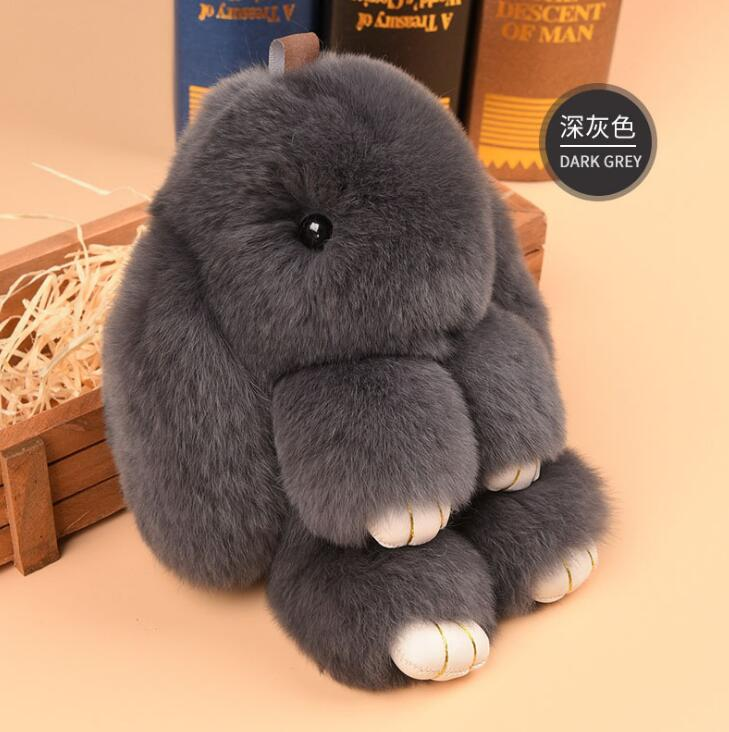 14cm Fashion Rex rabbit Furs Monster Keychain Ring Holder Pendant Bag Car Charm Tag Fluffy Bunny Rabbit Toy Doll Fur Keychains 18cm super cute fluffy bunny bag pendant lovely play dead rabbit animal toy keychain car decor