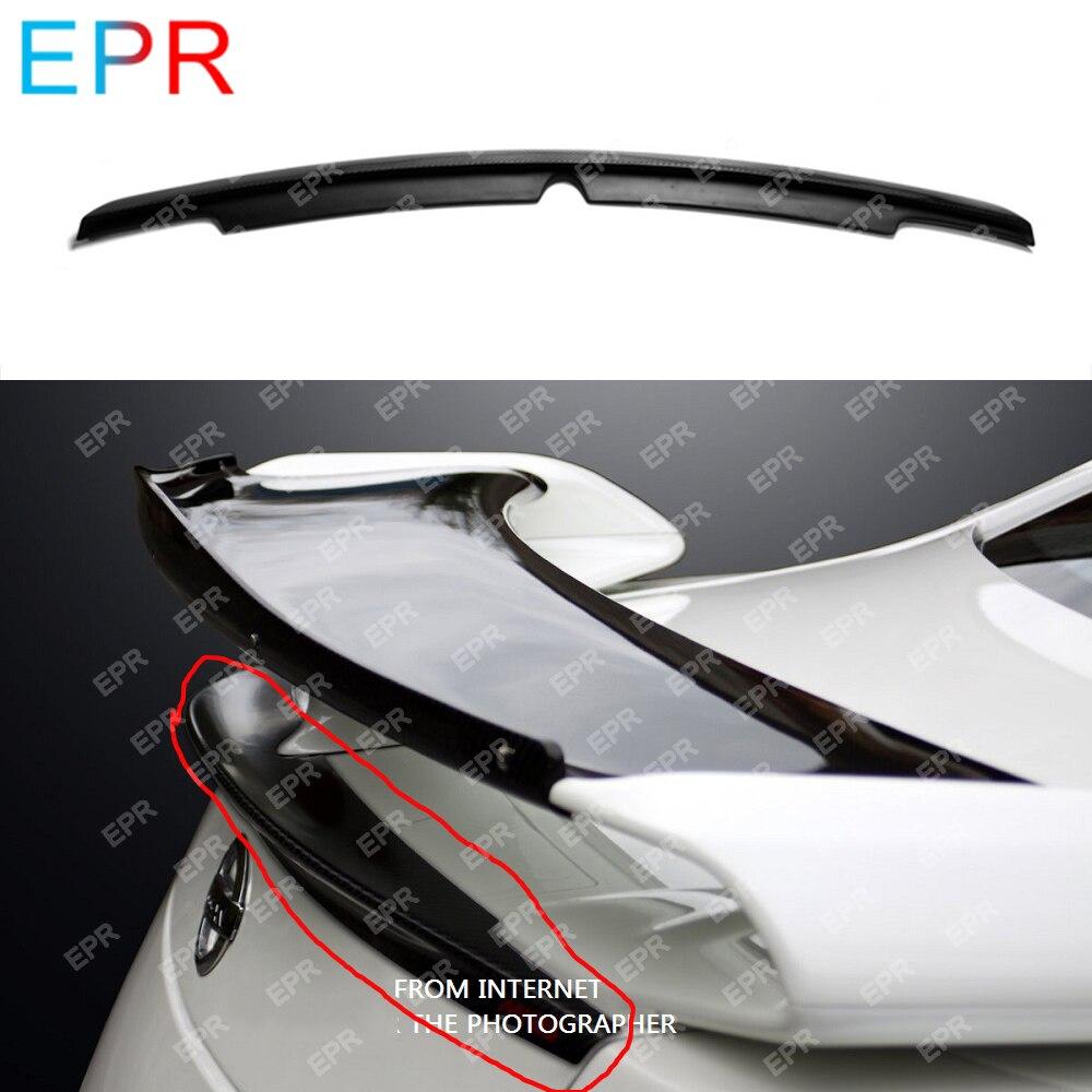 Pour Nissan R35 GTR fibre de carbone coffre lèvre Spoiler Kit carrosserie voiture style Auto Tuning partie pour GTR R35 coffre lèvre Spoiler
