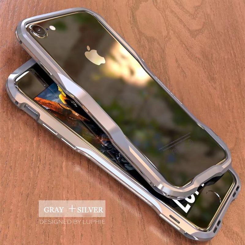Luphie Bicolor Aluminium metall telefon Stoßfall für iphone8 8 plus ...
