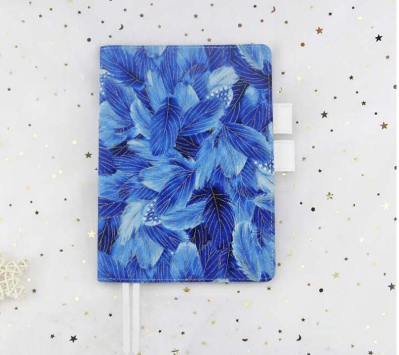 цена на Blue Feather Cloth Material Hobonichi Journal Fashion A5 A6 Cover Suit For Standard A5 A6 Inner Book