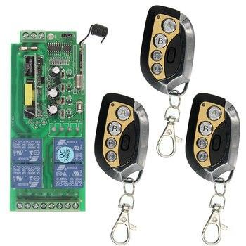 Hogar Inteligente AC85V ~ 265 V 110 V 220 V 230 V 4CH 4 CH interruptor de Control remoto inalámbrico de relé módulo receptor de Radio de salida y transmisor