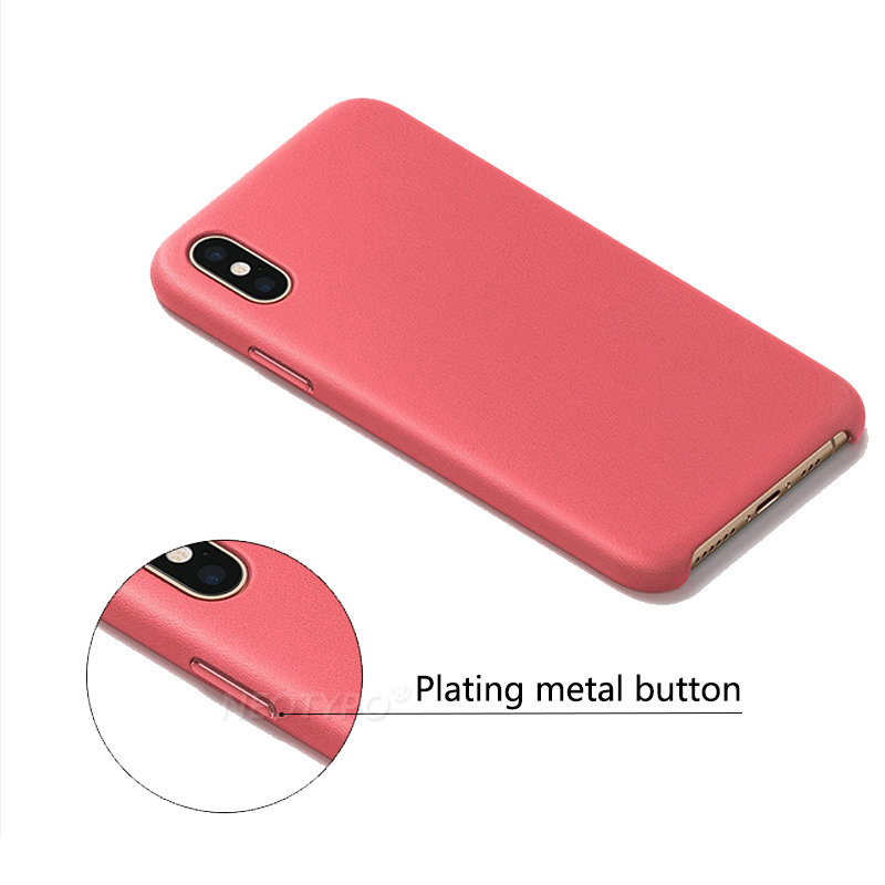 Metal button Leather Phone Case For iPhone XS Max X XR Leathe Back Cover With Retail Box 7 8 Plus 7P 6S 6 Plus 5 5s SE in Half wrapped Cases from Cellphones Telecommunications