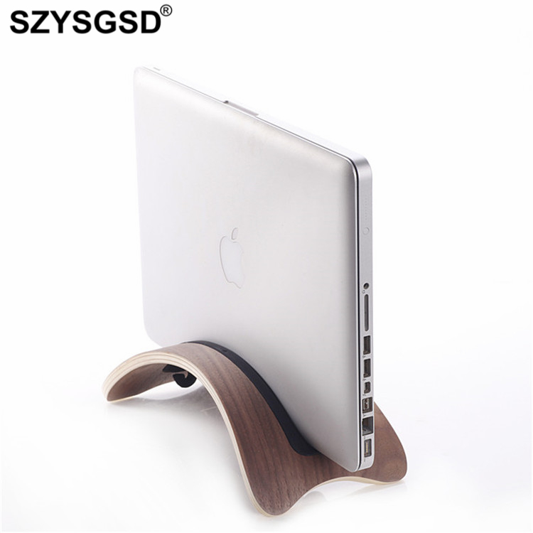 SZYSGSD High Quality Natural Wood Lightweight Wooden Laptop Stand Holder Wood Support for MacBook Air Pro Notebook Computer