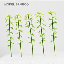 Teraysun 100pcs miniature bamboo model 12cm green scale mini artificial for trains landscape