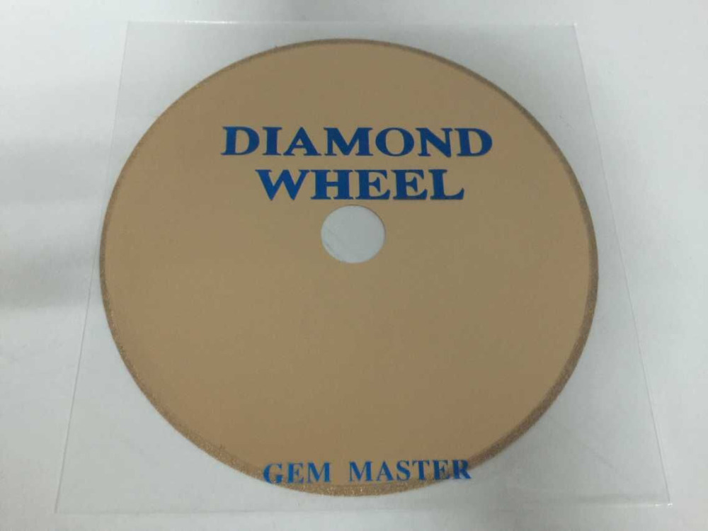 Gem Master 150mm Saw Blade High Precision Slice Diamond Wheel Disc Cutting for Amber Jade Gems stone Jewelry tool accessory 150mm 110mm power tool agate diamond saw blades no tooth slice grinding wheel cutting stone glass jewelry jade cutting disc