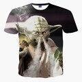Hot Star Wars Yoda Blaze Humo 3D de Impresión Camiseta de la Camiseta Unisex Camisas de algodón de Manga Corta Casual Homme Loose Summer Kid Teen Tops