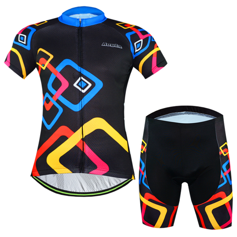 ФОТО Young Men Cycling Sets Lycra breathable Mountain Bike Bicycle Short sleeve Cycling Jersey set Ropa Ciclismo mens cycle clothing