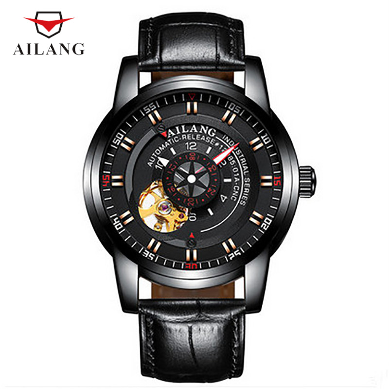 цена на AILANG Mechanical Wristwatches Male Collocation 30M Water Resistant Shock Resistant Leisure Rhinestone Stainless Steel A058
