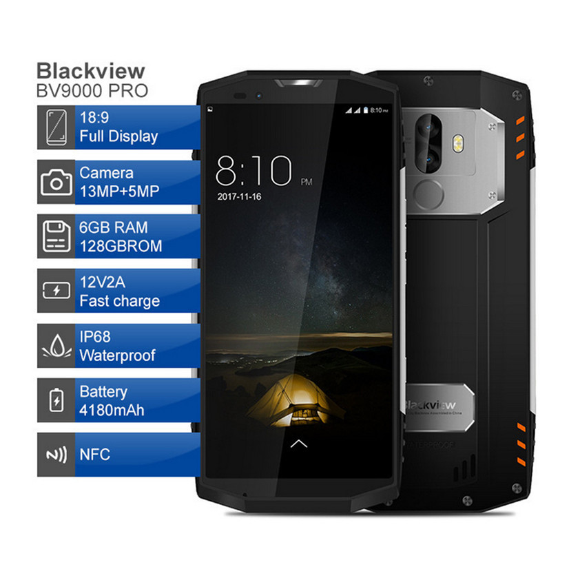 Blackview BV9000 Smartphone 4G RAM 64G ROM IP68 Waterproof unlocked 180118 free shipping drop ship