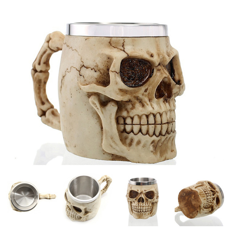 Image 4 - 2019 New Style 3D skull shape Cup Game of thrones Coffee Beer Cup Mug 13oz Best Gift For Boyfriend-in Mugs from Home & Garden
