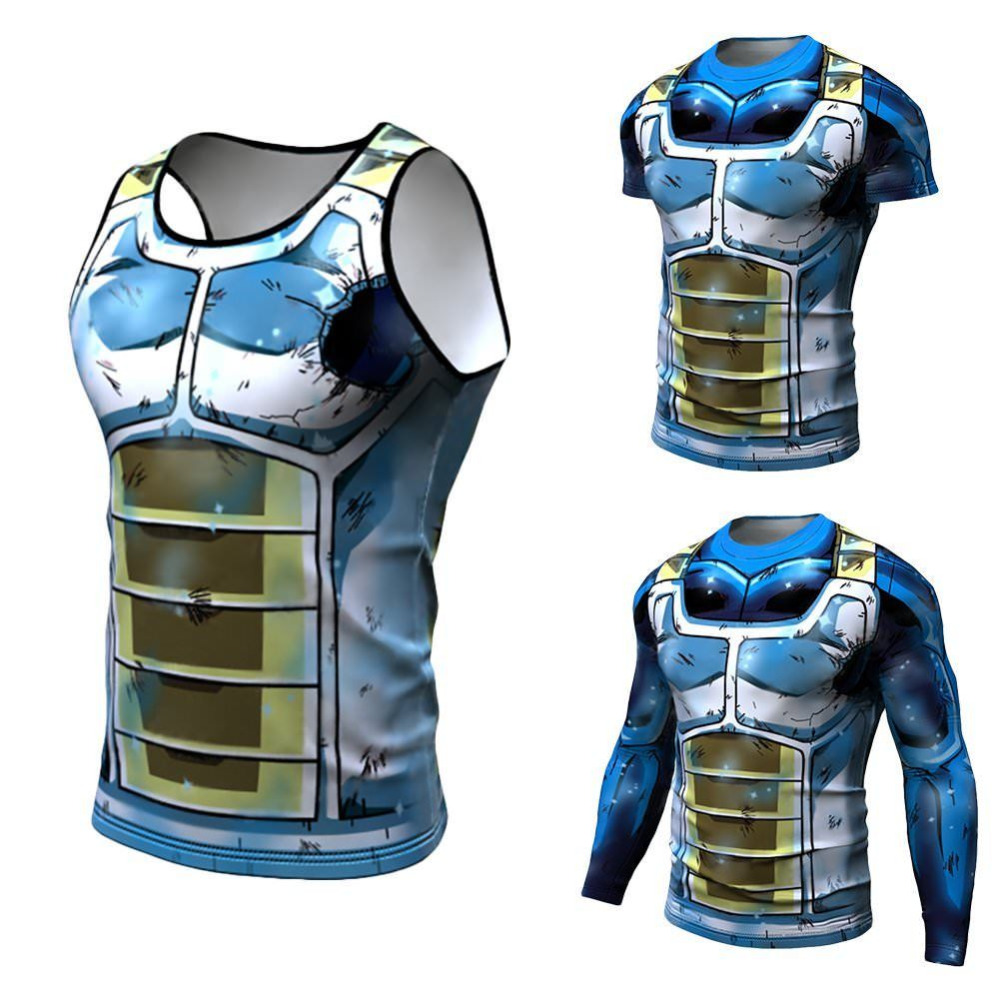 Dragon Ball T shirt 3D Men Tshits Anime T-shirt Comics Compression Tops Goku Ball Z Tee Fashion 2018 Vegeta Camiseta ZOOTOP BEAR