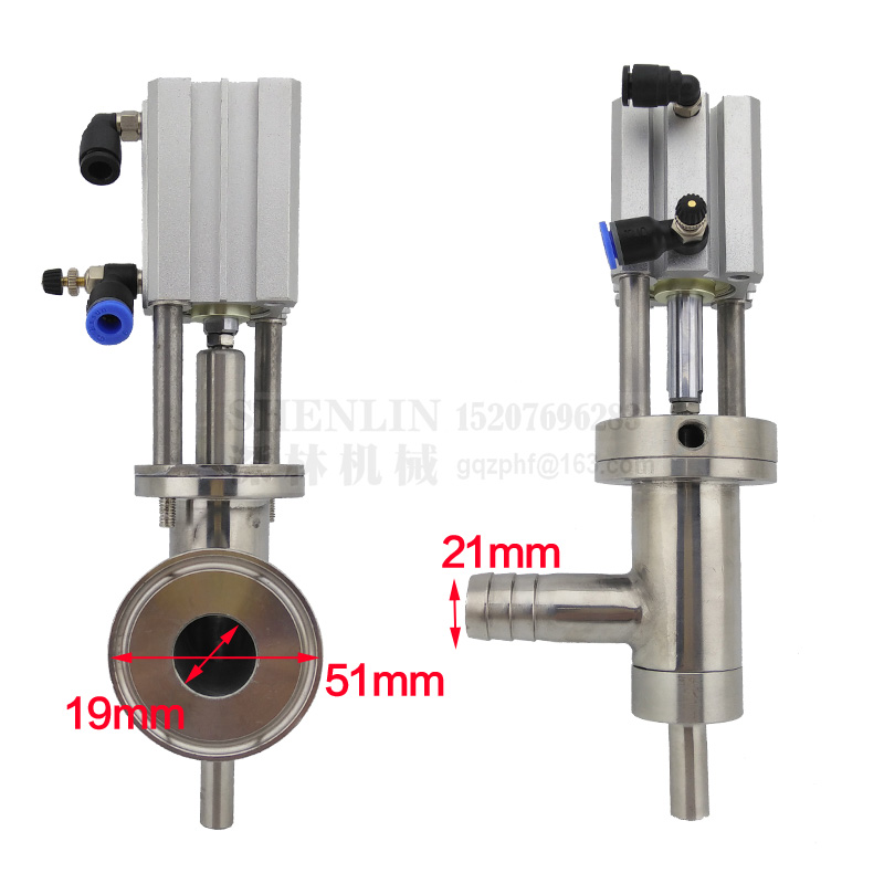 Filling nozzle filling head filling device of pneumatic filling machine liquid filler spare parts small filling head ss304