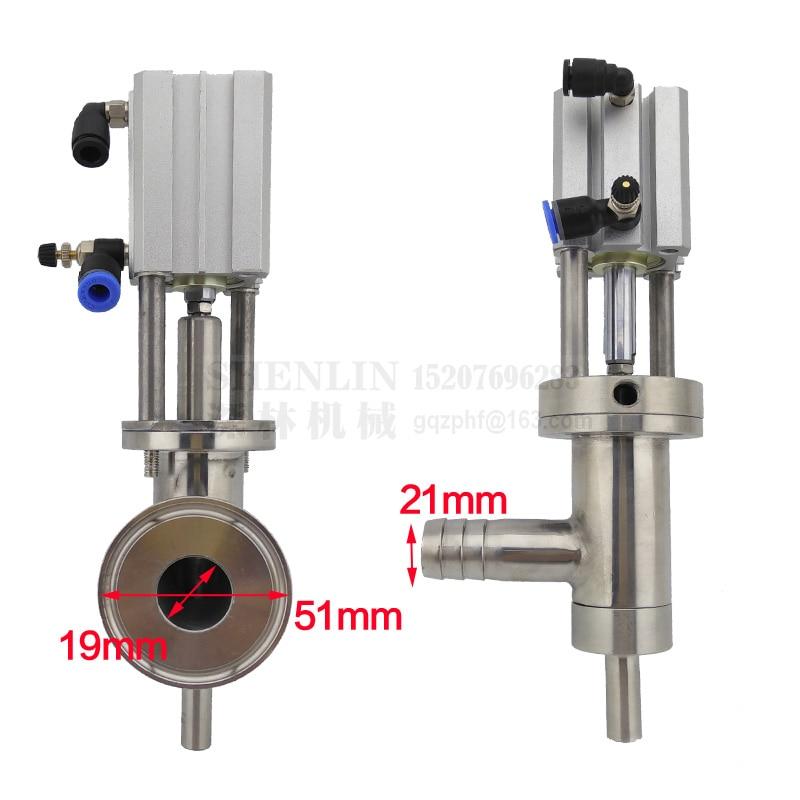 SHENLIN machine De Remplissage sortie valve anti-goutte buse de remplissage dispositif 19mm tuyau ou 51mm disque connecteur ss304 l'eau de la tête de remplissage