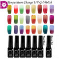 1Pcs Temperature Change UV Nail Gel Polish Varnish Long Lasting 6ML Soak Off Gel Nail Multi Color Free Shipping