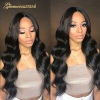 Парики из натуральных волос на кружеве необработанные бразильские волнистые парики для волос 130% Denisity для черных женщин натуральные волосы