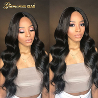 Human Hair Lace Front Wigs Unprocessed Virgin Brazilian Body Wave Hair Wigs 130% Denisity For Black Women Natural Hairline Sale