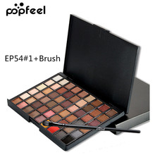 Popfeel 54 Color Shimmer Eye Shadow Pallete Matte Makeup Palette Natural Long Lasting Nude Cosmetic Women Beauty Eyeshadow
