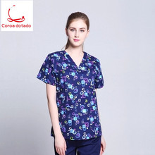 Mens and womens printed hand-washing clothes pure cotton fabrics can be sterilized at high temperature