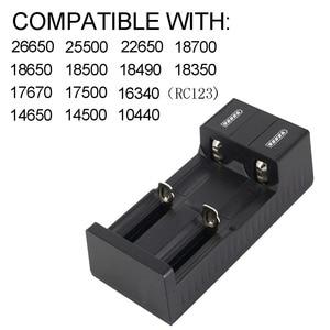 Image 2 - Universal 2 slot Batterie USB Ladegerät Smart Charge 3,7 V für 18650 Ladegerät Akkus Li Ion 18650 26650 14500