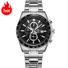 Casio watch Eye steel waterproof men 's quartz watch black steel strip EF-547D-1A1