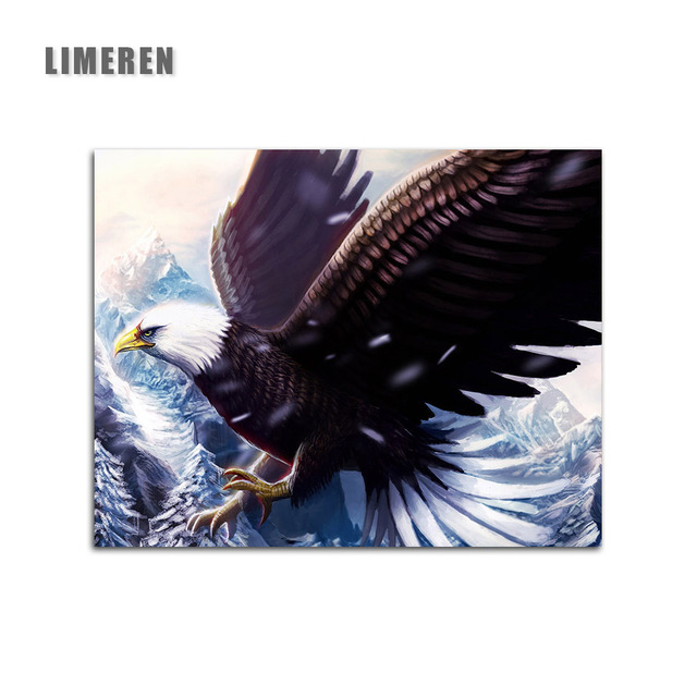 Animals Eagle Diy Pintura Por Numeros Kits Picture Paint On Canvas Coloring Painting By Numbers For